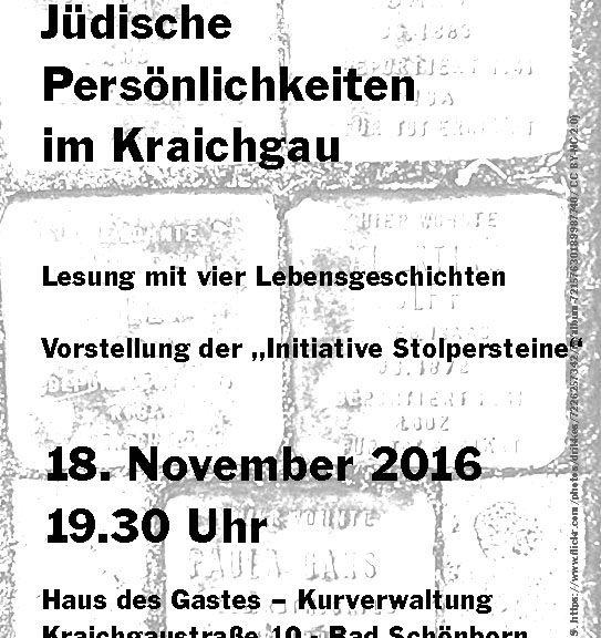 Plakat Jüdische Persönlichkeiten im Kraichgau